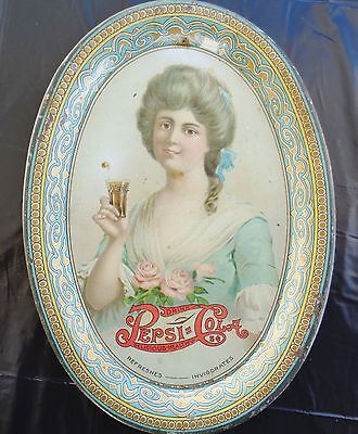 ORIGINAL 1908 EXTREMELY RARE PEPSI COLA TIP TRAY Org Chas W Smonk Co ref. sign