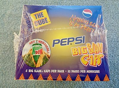 VINTAGE PEPSI MOUNTAIN DEW UNOPENED BIG SLAM DISPLAY BOX ref hillbilly sign pogs