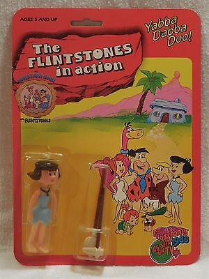 Flintstones 1985 D-Toys Spain The Flintstones in Action Betty w/Tools Flintoys