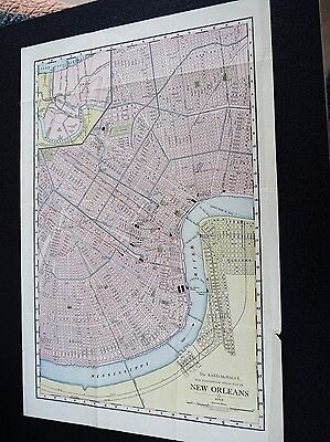 The Rand-McNally New Commercial Atlas Map of New Orleans