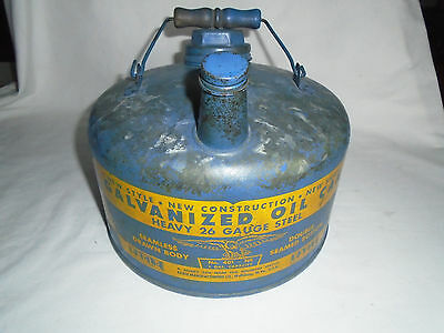 Vtg Eagle Galvanized Oil Can 1 Gal.