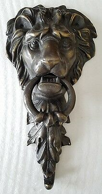 Cast Iron Figural Lion Head Door Knocker  11""