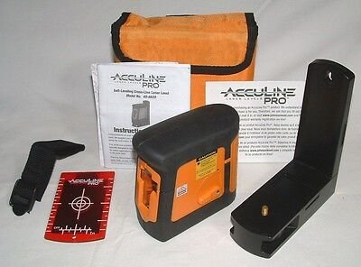 Acculine Pro 40-6620 Self-Leveling Cross-Line Laser Level