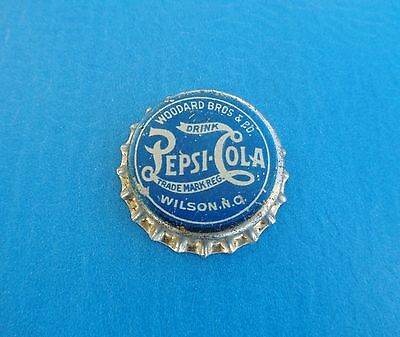 RARE 1900-1910 BLUE UNUSED PEPSI SODA BOTTLE CAP WILSON NC ref coca cola sign