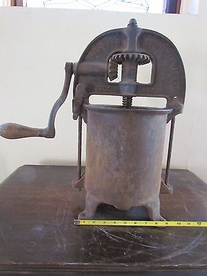 Antique Iron ENTERPRISE Sausage Stuffer - Fruit / Wine Lard Press 1876 1883