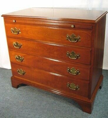 Vintage STATTON Trutype Americana Solid Cherry Bachelors Chest w/ Pull Out Tray