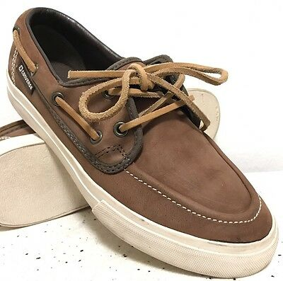 CONVERSE Brown Leather Lace Up Boat Shoes Men's Size 7 / Women's Size 8.5