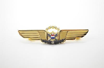 RARE UNITED AIRLINES 4th ISSUE 30-34 Yr MANAGEMENT PILOT WINGS w/ 5 DIAMONDS!