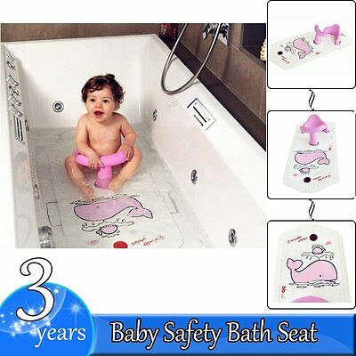Baby Safety Bath Seat chair & Extra Long Non-Slip Bath Mat with Heat Sensitive