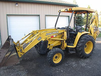 John Deere 110 TLB Backhoe 4X4 Very Low Hours Original Owner Rare Find Condition
