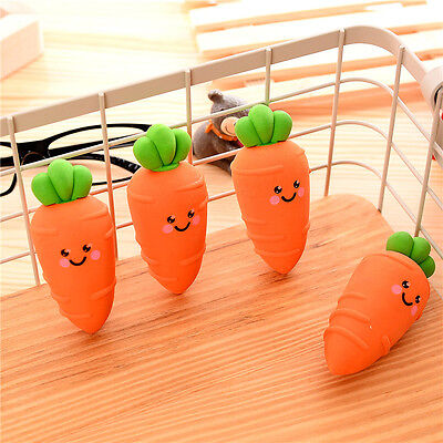 Kids Novelty carrot shape Erasers Rubbers Gift Toy Party Bag Gift