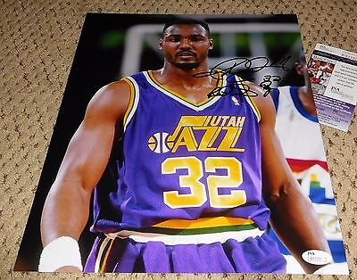 833aaa00b Karl Malone Signed 11X14 Photo Jsa Utah Jazz Basketball Autograph The  Mailman