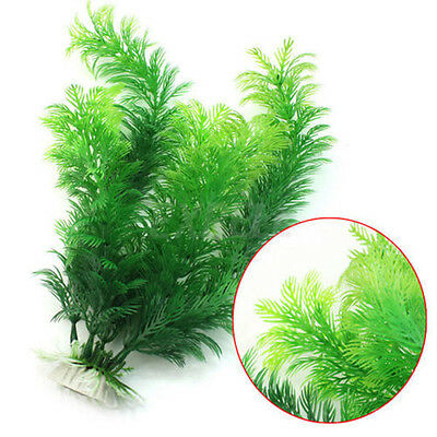 NEW Underwater Artificial Plant Aquarium Fish Tank Green Plastic Plants Decor UK