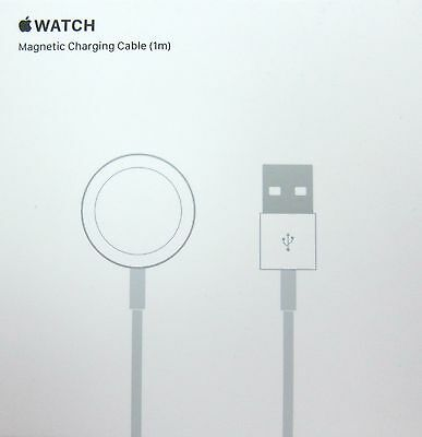 9 HR SALE Apple Watch Magnetic Charging Cable MKLG2AM/A 1m ( 3.3ft ) White NIB