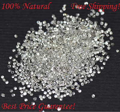 0.40 Ct Round 100 Diamonds 100% Natural G -H Color I1-I3 Clarity 0.90 - 1.00 MM