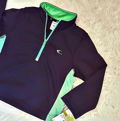 Carters 3T Blue Jacket Pullover New Wicking 1/4 1/2 Zip Boys Green Mockneck NWT