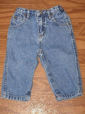Faded Glory Baby Boy Size 6-9 Months Blue Jeans Pants Bottoms EUC