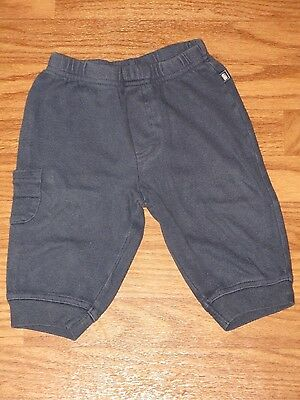 Old Navy Baby Boy Size 6-12 Month Navy Blue Cotton Pants Bottoms EUC