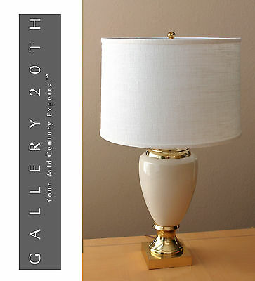 FREDERICK COOPER FRENCH EMPIRE TABLE LAMP! Cream Gold Vtg Eames