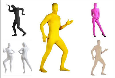 Adult Men Women Morph Invisible Spandex Full Body Suit Costume Zentai Bodysuit