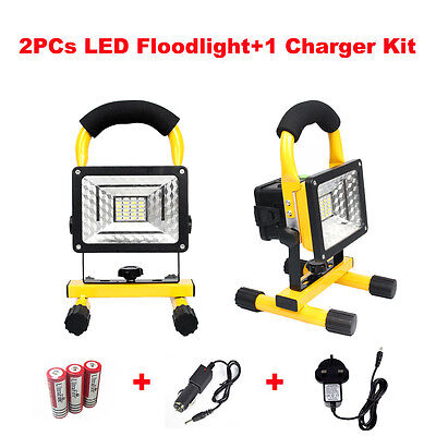 30W LED Floodlight IP65 Waterproof Outdoor Work Light Security Lamp Rechargeable