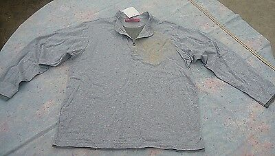 Espirit Boys' Gray Layered Shirt Long Sleeve Cotton Buttons Size M Youth New
