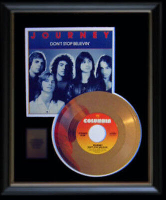 Journey Don't Stop Believin' Rare Gold Record Disc & 45 Rpm Sleeve