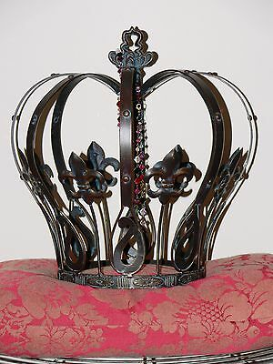 French style Decor king queen large crown  NEW wrought iron.