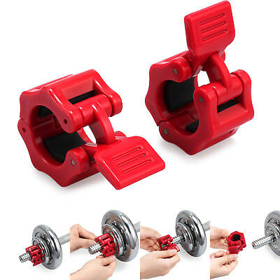 Pair Weight Lifting Bar Collars Home Gym Standard 25mm Barbell Lock Clamp Collar