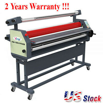 "USA - 63"" Full - auto Wide Format Roll Laminator Laminating Machine with Stand"