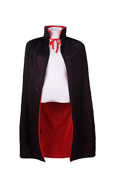 """Kids' Boys & Girls Reversible Black and Red Cape for Costume Cosplay Party,35"""""""