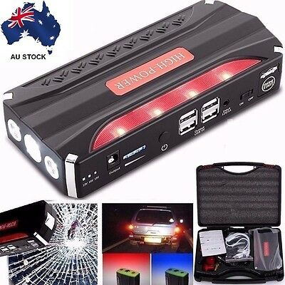 68800mAh 4 USB Power Bank Portable Car Jump Starter Pack Vehicle Booster Charger