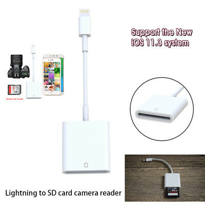 2 in 1 Lighting to SD Card Camera Reader Adapter for iPhone 6/6s/Plus/iPad