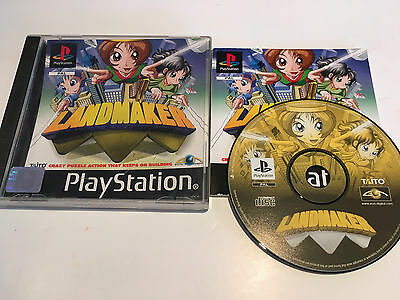 Landmaker for Sony PlayStation 1, 2000 PS1 Game Complete -
