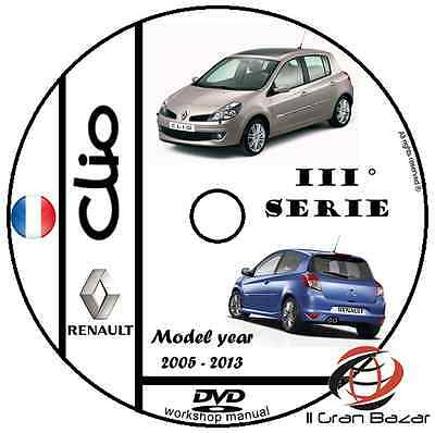 Manuale Officina Renault Clio Iii Serie My 2005 - 2013 Workshop Manual Cd Dvd