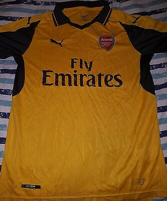 Arsenal 16/17 Mens Official Away Shirt Size Large