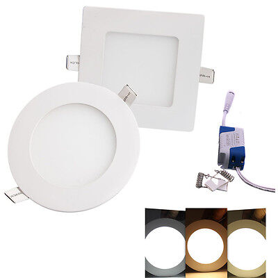 Slim Recessed LED Ceiling Spot Lights Panel Down Lamp Day/Warm White with Driver