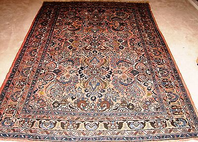 Authentic Semi-antique/Antique Hand Knotted Persian Lilian Rug