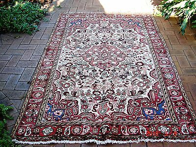 Persian Rug Authentic Semi-antique Certified Hand Knotted/Natural Dye