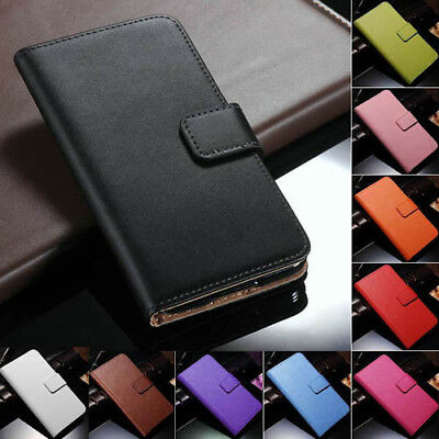 Genuine Leather Flip Wallet Case Cover For Samsung Galaxy S5 SV i9600