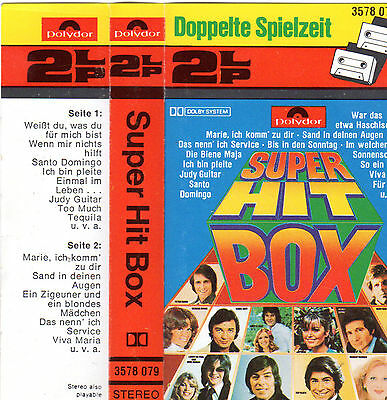 SUPER HIT BOX rare MC Tape MUSIKKASSETTE V/A Daliah LaviALBATROSS Beate PETE TEX