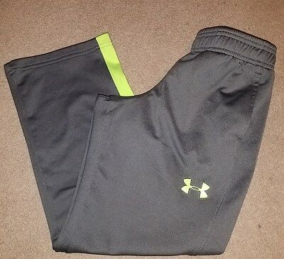 Boys Gray Neon Under Armour Loose Fit Athletic Sweat Pants Size Youth small