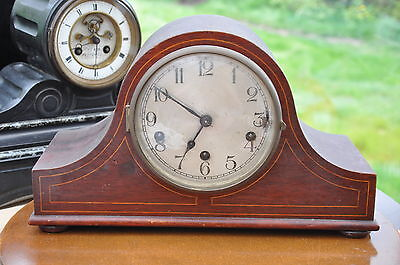 "Kienzle Mahogany Inlaid Westminster Chime ""platform Escapement"" Mantel Clock"