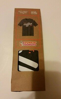 Dunkin Donuts -Xx Large - T-Shirt - But First, Coffee -  Brand New In Package