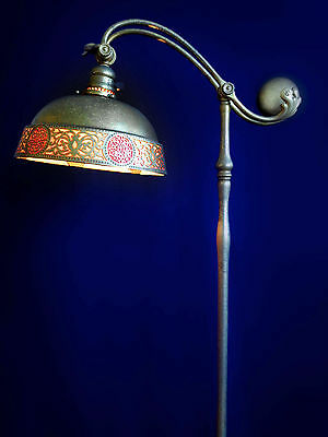 Tiffany Studios counter balance floor lamp.Bronze.Signed. in excellent condition