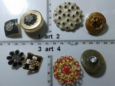 1 lotto bottoni gioiello strass smalti perle vetro buttons boutons vintage g10