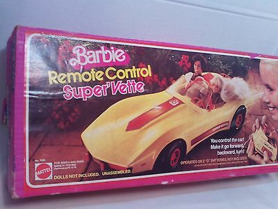Vintage 1979 Barbie Super Vette Remote Control Corvette Car Original Box WORKS!!