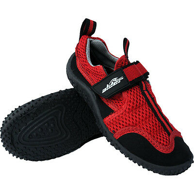 Alder Coral Soul Watersports Kids Beach Shoes, Red