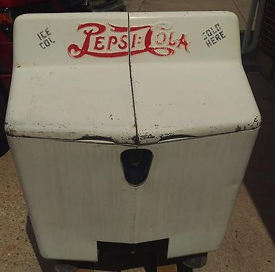Rare 1940's Pepsi:Cola Double Dot Heintz Gullwing Pop Cooler