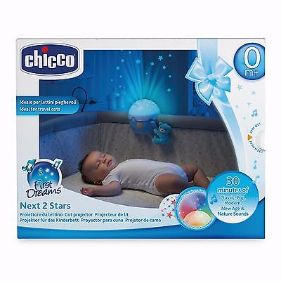 Chicco Blue Next2Stars Mobile Travel Cot Projector Fits Next2me Crib